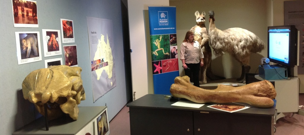 Karen form the Australian Museum presenting Giants from the past